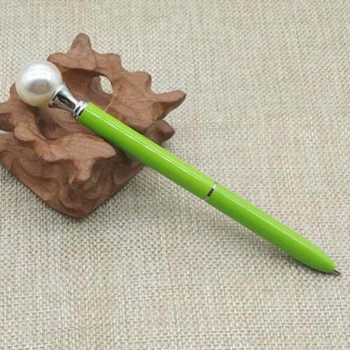 Novelty Pearl Queen Scepter Kids Writting Ballpoint Pen Office Birthday Gift 1mm