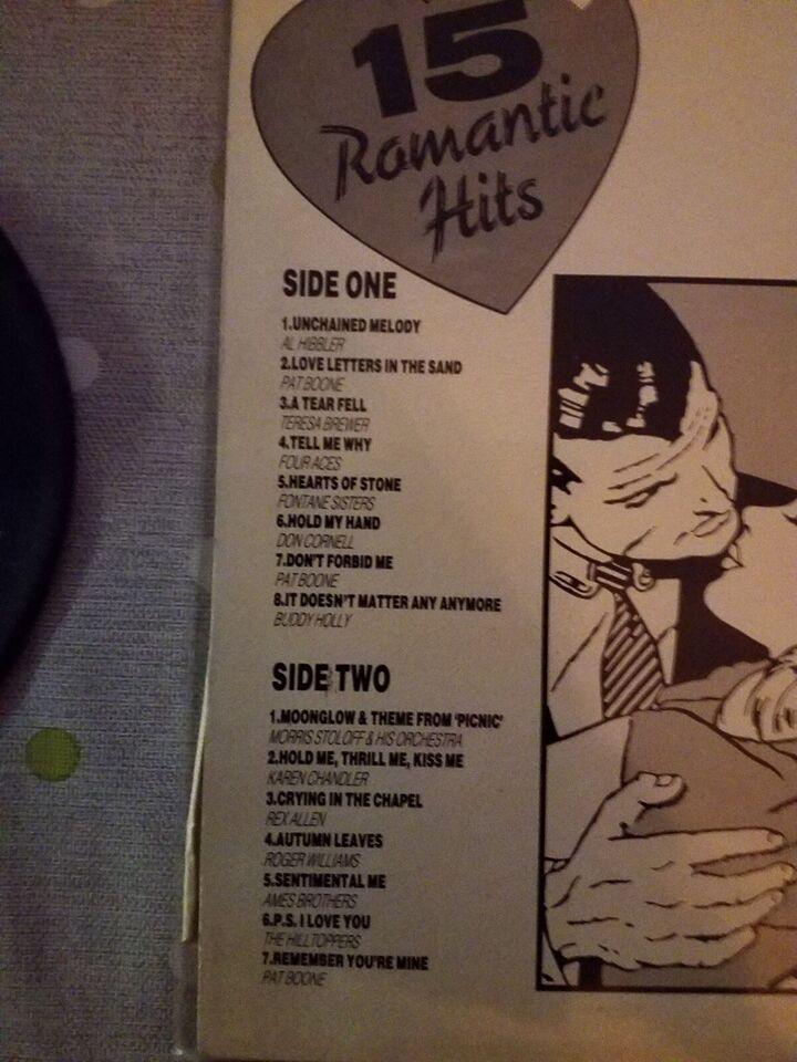 LP, UNCHAINED MELADIES, 15 romantisk hits