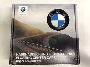 Genuine-BMW-Set-of-4-Floating-Level-Alloy-Wheel-Centre-Caps-65mm-36122455269