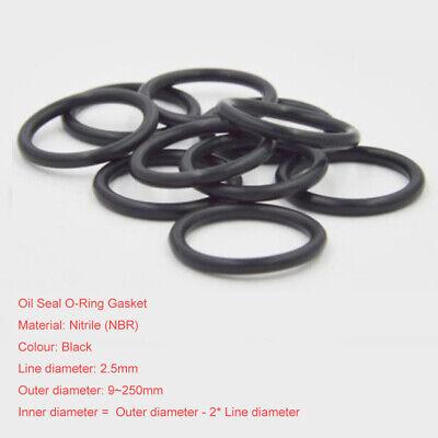 NBR Nitrile O-Ring Gasket Seals Rubber Oil Sealing Washers Ø3.5mm OD=12~100