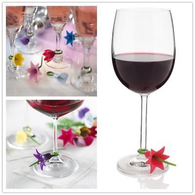 6PCS Silicone Wine Glass Marker pineapple Design Drink Charms Label MarkT ga