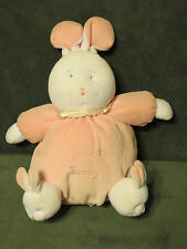 "11"" DGE SNUGGIE WHITE PINK MY 1ST BUNNY RABBIT RATTLE STUFFED ANIMAL PLUSH TOY"