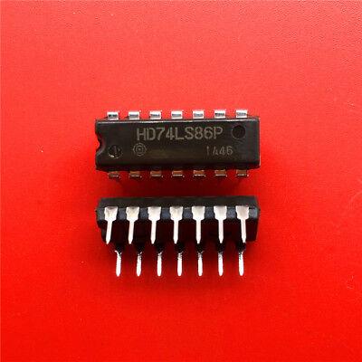 10PCS HD74LS86P Encapsulation:DIP14,Quad 2-input Exclusive OR XOR Gate