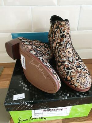 Ladies Sam Edelman Petty Turk tapestry ankle Boots UK 9 Brand new boxed