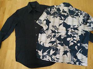 Couleur Et Chemise Lot Taille Calvin Coton Klein L Hawaienne Noir 7OfwWUw5nx