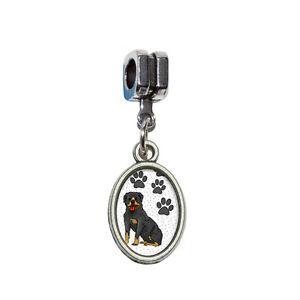 Rotweiler Dog CharmFits All European Style Charm Bracelets
