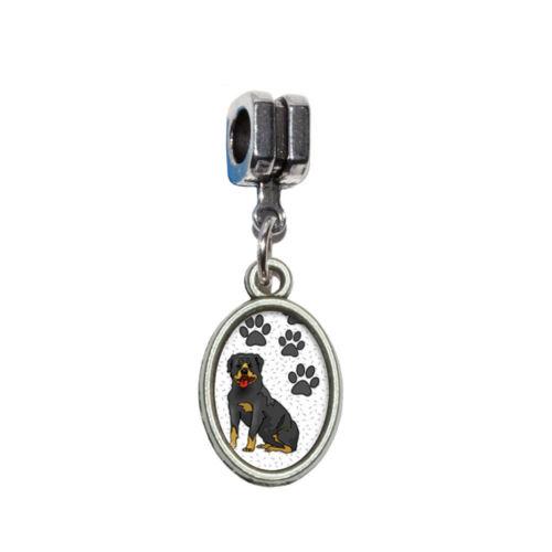 Rottweiler of Stature Italian European Style Bracelet Oval Charm Bead