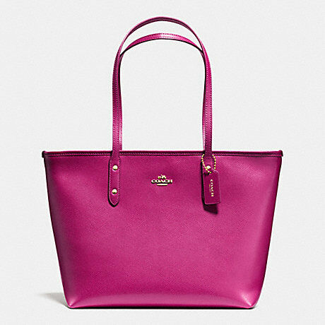 Coach Bag F36875 Coach City Zip Tote in Crossgrain Leather Agsbeagle LMY