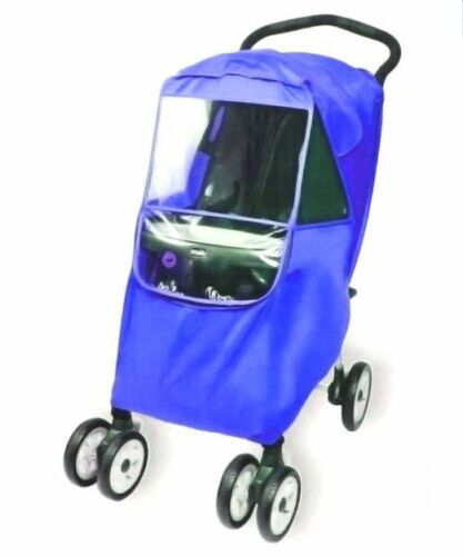 one size Hippo Collection Universal Stroller Weather Shield royal blue