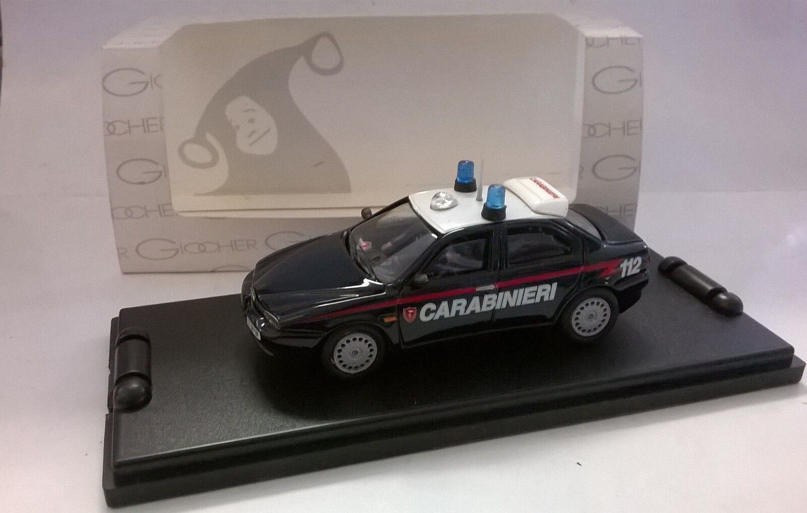 GIOCHER 1 43 AUTO DIE CAST ALFA 156 CARABINIERI ART AR04 MADE IN ITALY