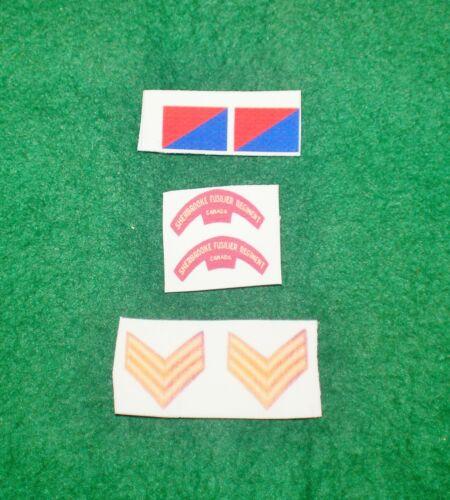 1//6 WW2 Britannique Commonwealth Candian Infanterie Division Patch Insigne Sets