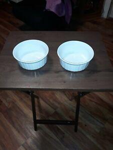 Set-Of-2-Corning-Ware-FRENCH-WHITE-16-Ounce-500-mL-Souffle-Baking-Dishes
