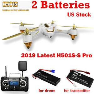Hubsan H501S Pro FPV Brushless Drone Follow ME RTH 1080P...