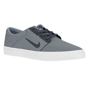 MEN'S GUYS NIKE SB PORTMORE BLACK SKATEBOARDING SHOES SNEAKERS NEW  001