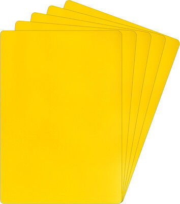 "(100) Yellow Trading Card Bin Divider Cards Vertical 30 Mil 2-11/16"" X 3-13/16"""