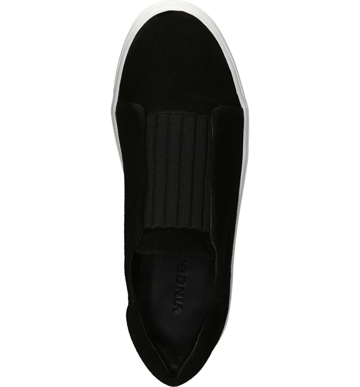 NIB NIB NIB Vince Cantara Suede Slip-On scarpe da ginnastica nero Dimensione 8.5, 9  195 0a8c71