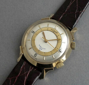 JAEGER-LECOULTRE-14K-SOLID-GOLD-Memovox-Wrist-Alarm-Watch-1953