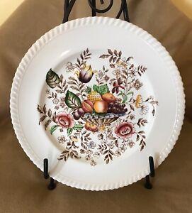 Fruit Plate Dinner Plate Vintage Windsor Fruit Johnson Bros England Brown White