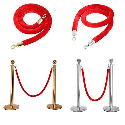 1.5m Rot Kordel Queue Barrier Rope für Personenleitsystem VIP Ständer Absperrung