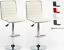 Sgabello-Bianco-Bar-girevole-moderno-sedia-regolabile-cucina-kit-2-pz-offerta miniatuur 8