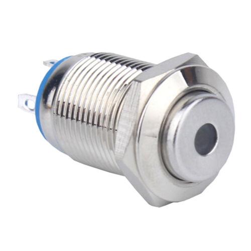 IP65 12V 12mm Waterproof LED Panel Warning Indicator Light Lamp~Blue Lights