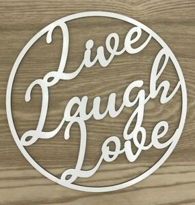 Wooden-sign-hoop-ring-with-white-melamine-coating-Live-Laugh-Love