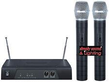 Radio Vhf Inalámbrico Doble De Mano Micrófono Discoteca DJ Karaoke * hecho por Kam *