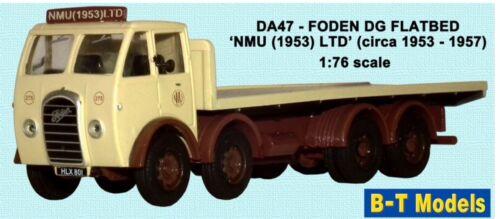 BASE TOY DA47 Foden FG Flatbed NMU Ltd c 1953 .T MODELS 1:76 Scale OO Gauge