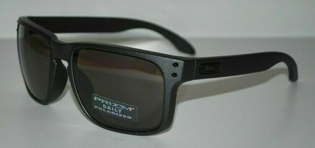 Oakley Holbrook Sunglasses OO9102-B5 Steel/Prizm Daily Polarized NEW