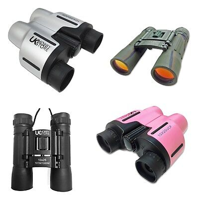 10x Magnification Ladies Girl Pink Binoculars 10x25 Light Compact Pocket Handbag
