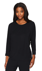 Black Miss Elaine Women/'s Sesoire Soft Modal Knit Sleep Top Medium