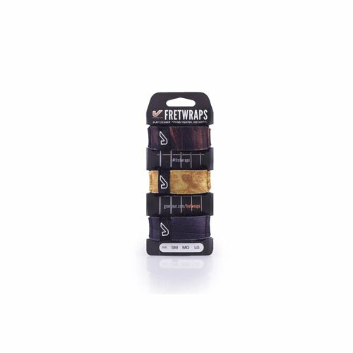 Gruv Gear FretWraps Fret Wraps Guitar Bass String Muters 3-Pack Wood Large