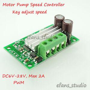 6v 28v 2a mini dc motor speed controller pwm regulator for Small dc motor controller