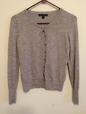 1297) BANANA REPUBLIC sz XS gray wool blend cardigan sweater button front fitted