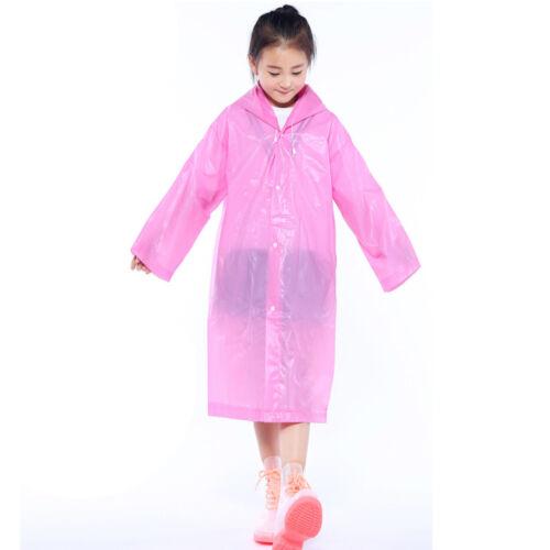 1//2PCS Kids Reusable Rainwear Waterproof Raincoats Kids Rain Ponchos Coverup L