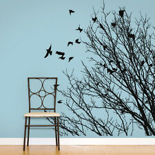 Wall Decal Vinyl Sticker Branch tree birds grass Plants Flower bedroom r738