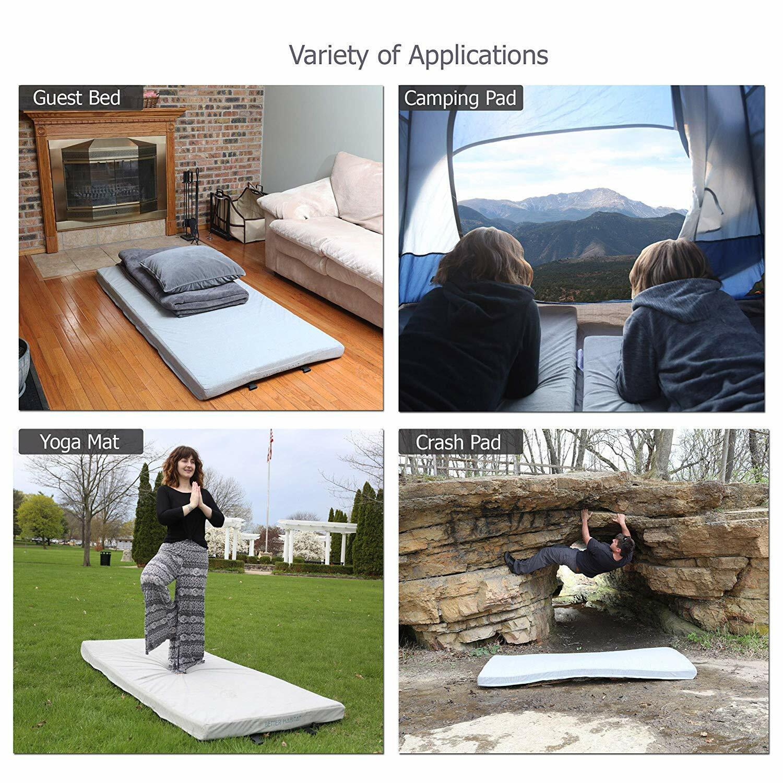 BetterHabitat Sleep Ready Memory Foam  Floor Mattress Twin 75x36x3 Camping  new style