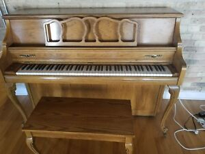 Details about Kimball - Artist Console - Upright Piano with Original Bench