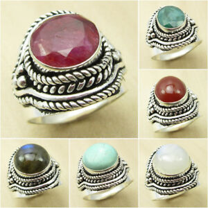 cf4ee8202 925 Silver Plated Over Solid Copper, SIMULATED RUBY & Other Stone ...