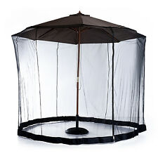 Outsunny 10ft Umbrella Table Screen Mosquito Bug Insect Net Outdoor Patio Black