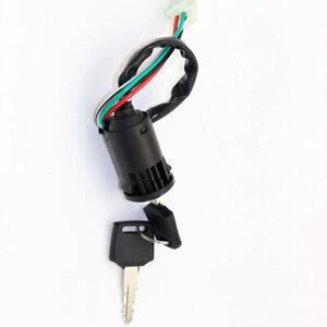 For-pocket-super-scooter-Ignition-Key-Switch-PIT-Quad-Bike-ATV-Black-Accessory