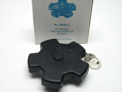 30mm or 40mm CAWI Vintage NOS Black Star Gas Fuel Cap for Scooters Mopeds 048