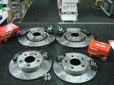 Vauxhall Zafira 1.9 CDTi Front /& Rear Brake Pads Discs 308mm 264mm 100 07//05