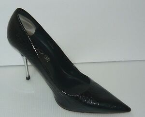 c85aacc5a2a Aldo Women s Black PAtent Leather Heels Shoes Size 38 7.5 US