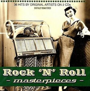 Rock-n-039-Roll-Masterpices-36-1950-039-s-60-039-s-Original-Hits-Various-2-Disc