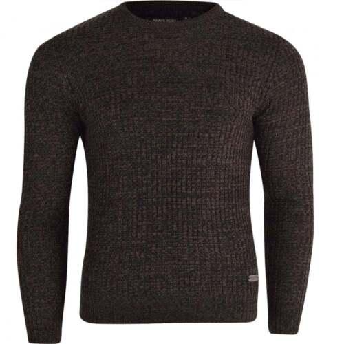 Brave Soul Uomo Girocollo Lavorato a Maglia Maglione Pullover sweater Smart Casual Maglieria