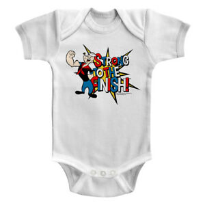 3f384b3e1 Popeye The Sailorman Strong to the Finish Baby Grow Infant Romper ...