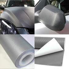 127*30cm Auto SUV Light Gray DIY 3D Carbon Fiber Wrap Paper Vinyl Film Sticker