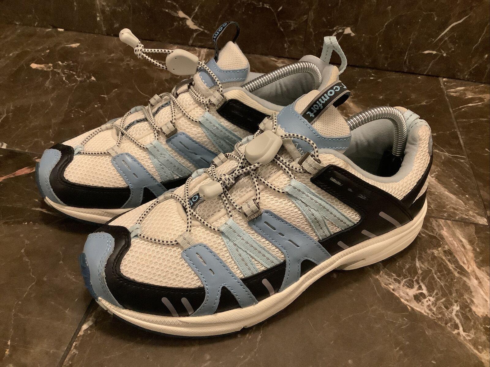 3950:Dr Comfort Femme rafraîchir Diabétique Chaussures Taille 10 Large Bleu Blanc