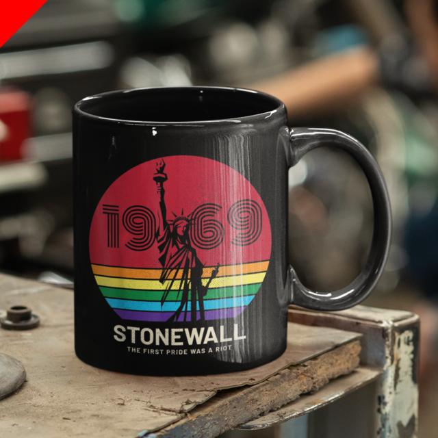 LGBT Gay Lesbian Pride 50th Anniversary Stonewall Cup Coffee Mug 11oz